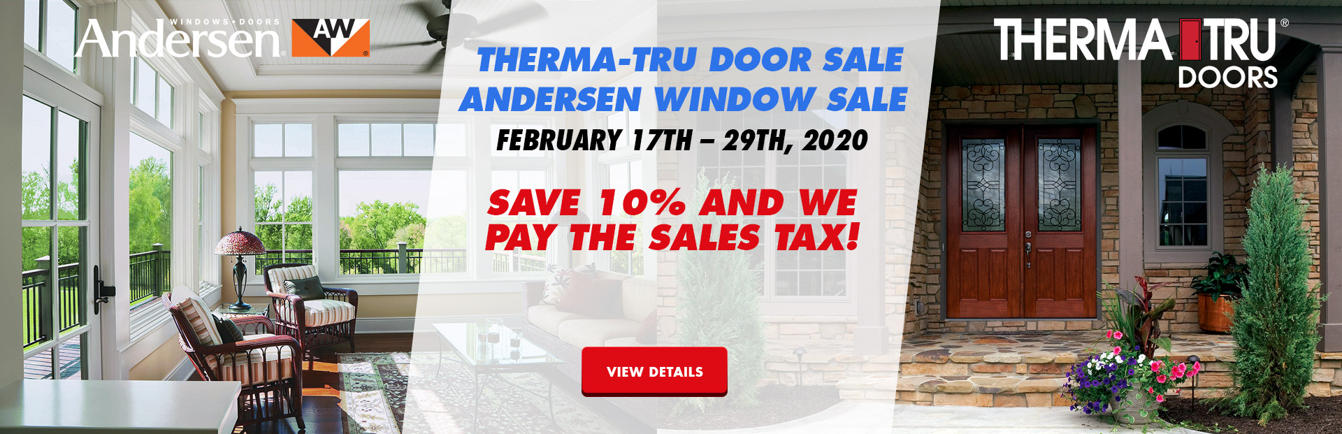 Therma Tru Winter Sale & Andersen Winter Sale
