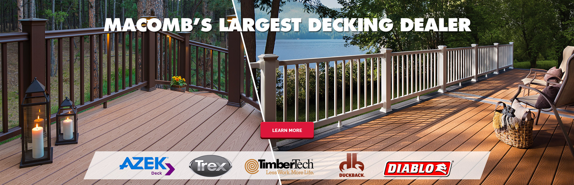 #1 decking dealer in Macomb County
