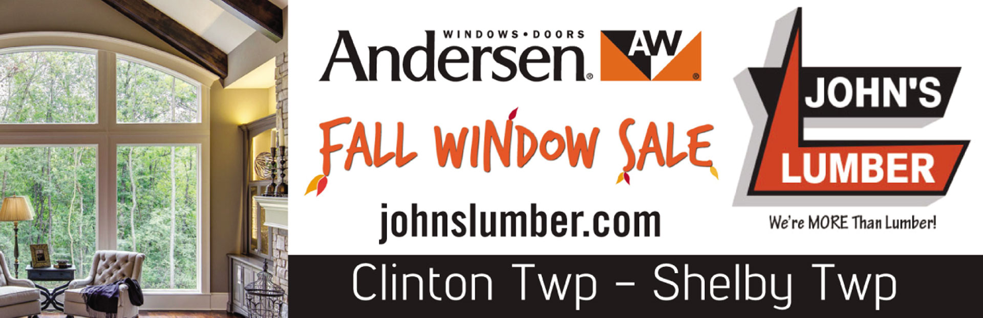 Anderson Window Sale