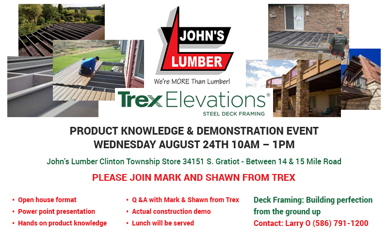 Johns Lumber TREX Elevations 2016