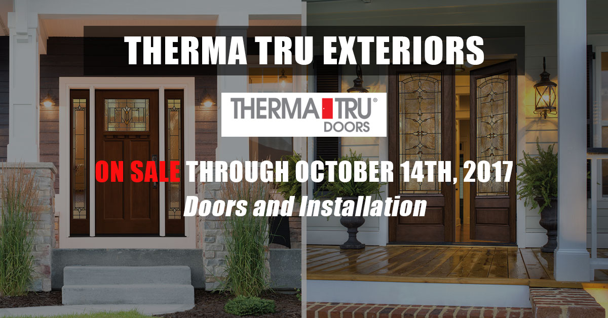John's Lumber Therma Tru Exterior Door Sale