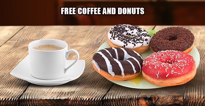 John's Lumber Free Coffee and Donuts